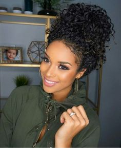 Cool hair styles 54 nice cute curly hairstyles for medium hair 2017 Curly Hair Styles, Cute Curly Hairstyles, Curly Hair Updo, Medium Hair Styles, Girl Hairstyles, Wedding Hairstyles, Natural Hair Styles, Black Hairstyles, Hairstyle Ideas