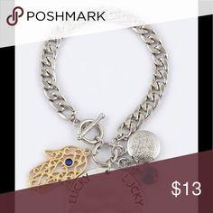 Hasma Bracelet Lucky Hasma bracelet with real keepsake locket. Jewelry Bracelets