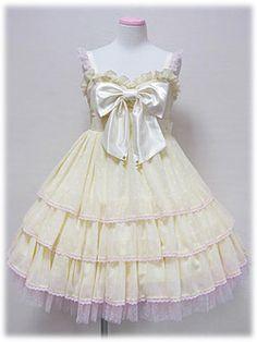 Angelic Pretty / Jumper Skirt / Milky Polkadot Chiffon JSK