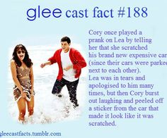 glee cast fact RIP Cory