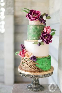 Dutch Still Life Inspired Wedding Cake