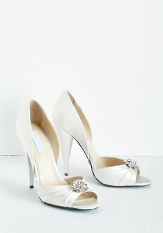 Heels - Betsey Johnson Fancy and You Know It Heel in Ivory