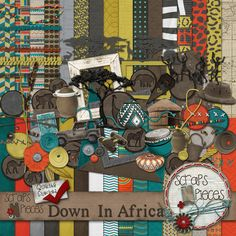 Down In Africa - Digital Scrapbook kit - $5.99 normally, 1/2 off this week.