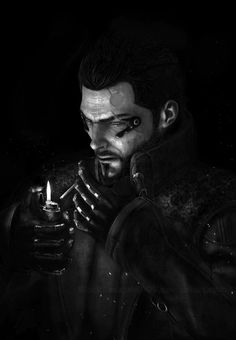 Adam Jensen, Deus Ex: Human Revolution All Video Games, Video Game Characters, Deus Ex Universe, Deus Ex Human, Deus Ex Mankind Divided, Animated Man, Interesting Drawings, Fantasy Love, Cyberpunk Character