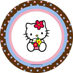 Etiquetas circulares de Hello Kitty
