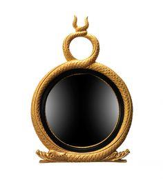 English Georgian   Furniture and Mirrors,Mirrors,A221 Twin Serpent Convex