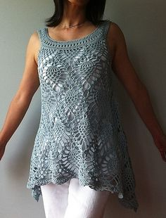 Ravelry: Jordan - sleeveless pineapple top pattern available by Vicky Chan