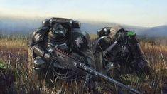 Warhammer  Space Marines The Raven Guard – Art By hammk.
