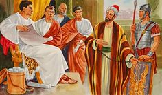Paul and the elders of the Jews before Felix