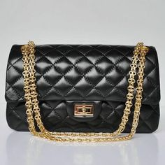 57877017729d66 Chanel Reissue 2.55 Quilted Flap Sheepskin Handbag Black 30226 Black  Handbags, Chanel Handbags, Fashion
