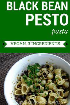 Black Bean Pesto Pasta | xtinaluvspink.wordpress.com