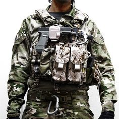 Note the holster the Glock is in.  CRYE designed for use with or w/o light. Can go on belt or MOLLE. I have one n love it