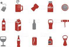 Drinking Icon Set royalty-free stock vector art Free Vector Art, Vector Icons, Drink Icon, Icon Pack, Image Now, Icon Set, Drinking, Alcoholic Drinks, Illustration