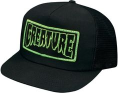 e333440cc2fd1 Creature Patch Trucker Hat Adjustable  Black  Skateboard Hats