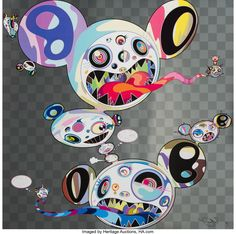 Takashi Murakami (b. Parallel Universe, 2014 Offset lithograph with colors on wove paper x - Available at 2018 January 30 Online Prints &. Japanese Pop Art, Japanese Artists, Takashi Murakami Art, Superflat, Naive Art, Art World, Modern Art, Tokyo, Illustration Art