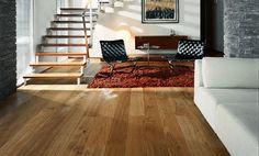 Assoalho de madeira estruturada / em carvalho / oleado JERSEY Kahrs