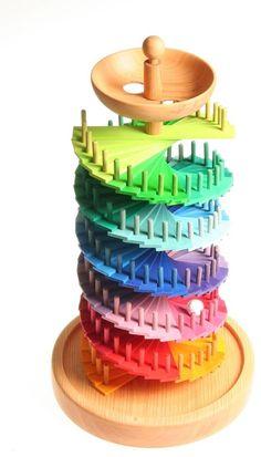 Kugelbahn,Bausatz,Murmelbahn,Murmel,Holz,von Grimm ! in Spielzeug, Holzspielzeug, Kugelbahnen & Zubehör | eBay
