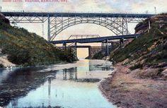 High Level Bridges, Hamilton, Ontario, Canada postcard