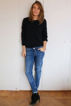 Light denim, Tuesday jeans från Weekday, Caroline Sandström