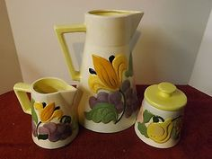 Vintage antique #coffee tea pot cream and #sugar #ceramic set,  View more on the LINK: http://www.zeppy.io/product/gb/2/281988984564/