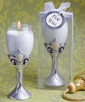 Fleur de lis design champagne flute candle  £3.00 plus P + P. To order please visit http://aromaroma.co.uk/shop/article_8197/Fleur-de-lis-design-champagne-flute-candle.html?shop_param=cid%3D1%26aid%3D8197%26