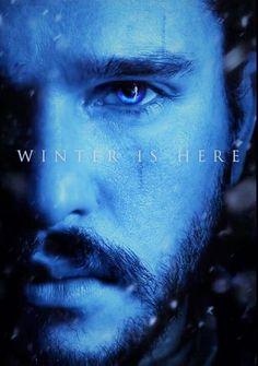 — dailykitharington:    Jon Snow poster for Game of...