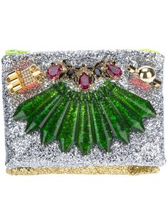 Mawi Double Glitter Clutch in Multicolor (multi) | Lyst