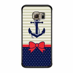Anchor And Bow Tie Samsung Galaxy S6 Edge Case