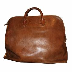 France Hermes leather and Brass Travel Bag 1960s (from Mantiques Modern)