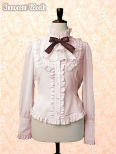 Innocent World's De Chine Blouse with Jabot in Pink