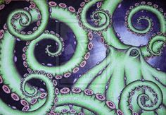 Dotctopus II by BramboraCzech on DeviantArt Octopus Squid, Octopus Art, Squid Tattoo, Tattoo Art, Stippling Art, Bristol Board, White Gel Pen, Pointillism, Tentacle