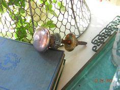 Vintage Mercury glass doorknob