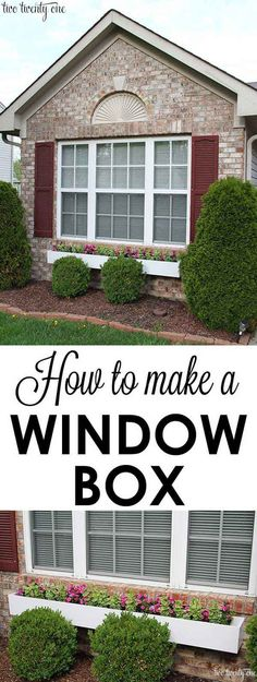20 Easy and Cheap DIY Ways to Enhance The Curb Appeal www.shawnastringer.com #curbappeal