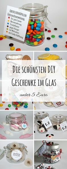Diy Geschenke DIY the most beautiful DIY gifts in a glass under 5 euros Instructions: DIY crafts DIY Diy Gifts Cheap, Diy Crafts For Gifts, Crafts Cheap, Valentines Day Gifts For Him Creative, Valentine Gifts, Diy Birthday, Birthday Gifts, Diy Pinterest, Advent Calendar Gifts