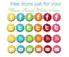 Becoming Martha: 10+ Resources for Social Media Icons - Volume II {5+5 Fridays}  Good for my wedsite