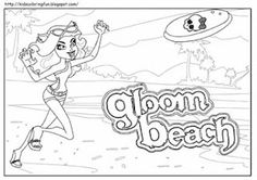 Monster High Gloom beach coloring page.