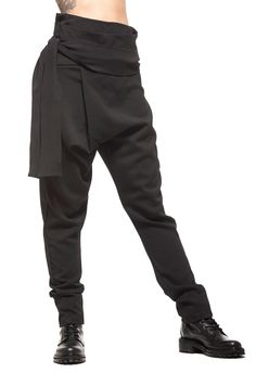 Maxi Pants, Harem Trousers, Trousers Women, Pants For Women, Drop Crotch, Sexy Skirt, Character Outfits, Cute Outfits, Long Black