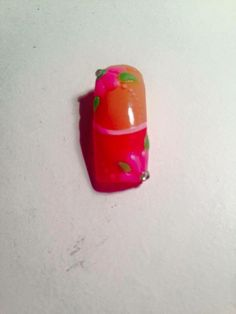 3D Flower Nail Art By Hand