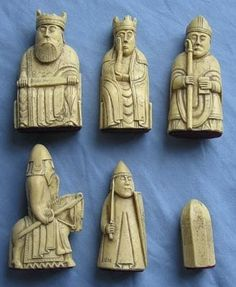 The Lewis chessmen are a group of chess pieces discovered on the Isle of Lewis in They were carved from walrus ivory and whale teet. Chess Pieces, Game Pieces, History Of Chess, Les Runes, Medieval Games, Art Roman, Sculptures Céramiques, Bone Carving, Ancient Artifacts