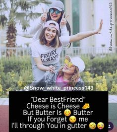 Best Friend Quotes Funny, Funny Attitude Quotes, Besties Quotes, Funny Baby Quotes, Bffs, Best Friends Forever Quotes, Real Friendship Quotes, Happy Friendship, Friend Birthday Quotes