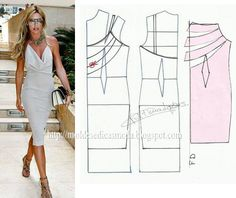 Lots of dresses patterns based on a single basic pattern Must try, there's always a first time for everything, like drawing a pattern. Sewing Paterns, Sewing Patterns Free, Clothing Patterns, Easy Patterns, Fashion Sewing, Diy Fashion, Ideias Fashion, Diy Clothing, Sewing Clothes