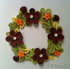 Quilled Flower Arrangements - Wreath