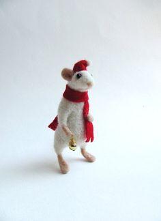 Needle felted Mouse by HandmadeByNovember on Etsy, $45.00