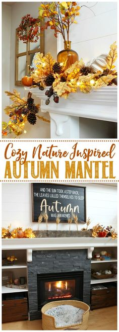 Create a beautiful fall mantel or vignette with these cozy fall mantel decor ideas. #falldecor #falldecorating #manteldecor #fallmantel #mantel Pumpkin Crafts, Fall Crafts, Canvas Hangers, Fall Vignettes, Pillar Candle Holders, Fall Mantel Decorations, Diy Canvas, Easy Diy Projects, Decor Styles