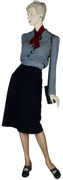 Skirt suit ca. 1942 via The Victoria & Albert Museum