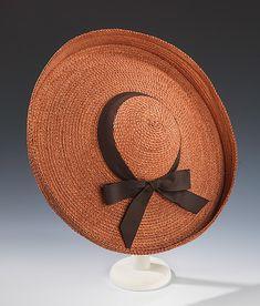 Sally Victor Straw Hat 1940s