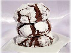 Recette Dessert : Crinkles - biscuits craquelés, moelleux au chocolat par Didine1512