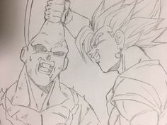 Easy Draw : - Art & Drawing Community : Explore & Discover the best and the most inspiring Art & Drawings ideas & trends from all around the world Dragon Ball Gt, Dragon Art, Goku Drawing, Ball Drawing, Vegito Vs Buu, Dbz Drawings, Art Anime, Anime Sketch, Fanart