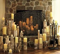 Candles In A Fireplace candle holder nicely arranges your candles inside the fireplace