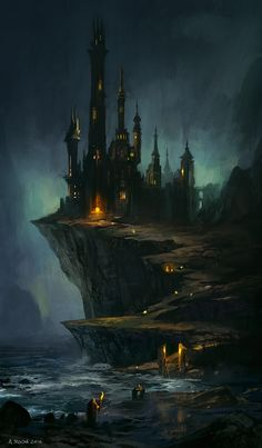 Wizard s Castle by andreasrocha Fantasy landscape Fantasy castle Fantasy art